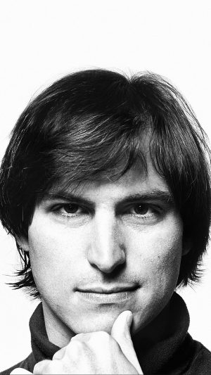 Young Steve Jobs Face iPhone 8 wallpaper