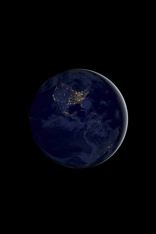 Earth Night iPhone wallpaper