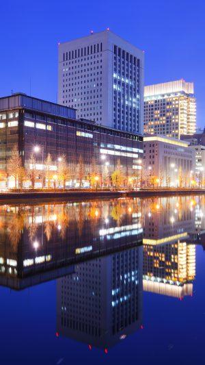 Marunouchi Business District in Tokyo, Japan.